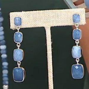 Jay King DREAM BLUE OPAL Sterling Silver Earrings